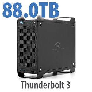 88TB (4x4TB U.2 NVMe SSD, 4x18TB HDD) ThunderBay Flex 8 Thunderbolt 3 Storage Solution