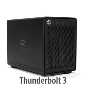 (*) OWC ThunderBay 4 RAID Ready 4-Bay External Storage Enclosure with Dual Thunderbolt 3 Ports