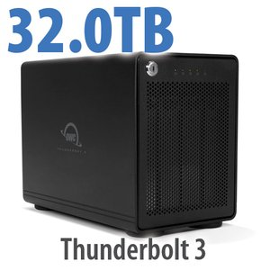 32TB OWC ThunderBay 4 RAID Ready 4-Drive HDD Storage Solution with Dual Thunderbolt 3 Ports
