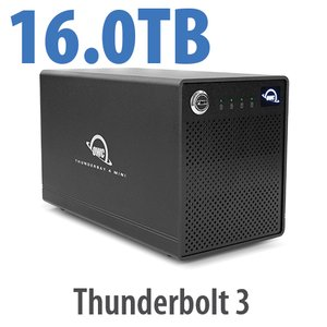 16.0TB OWC ThunderBay 4 mini Four-Drive HDD External Thunderbolt 3 Storage Solution