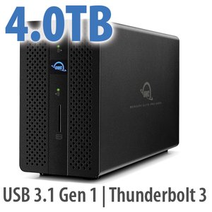 4.0TB OWC Mercury Elite Pro Dock - Thunderbolt 3 Dock and Dual-Drive RAID Solution