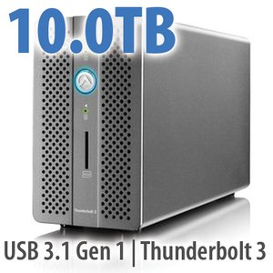 (*) 10.0TB OWC/AKiTiO Thunder3 RAID Station Special - All-in-one Thunderbolt 3 dock with RAID Storage