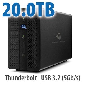 20.0TB OWC Mercury Elite Pro Dock - Thunderbolt 3 Dock and Dual-Drive RAID Solution