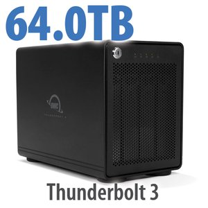 64TB OWC ThunderBay 4 RAID 5 Four-Drive Enterprise HDD Storage Solution with Dual Thunderbolt 3 Ports