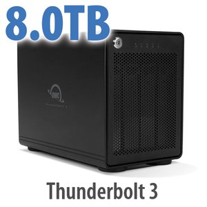 8TB OWC ThunderBay RAID 4 Four-Drive SSD External Storage Solution with Dual Thunderbolt 3 Ports