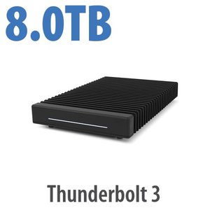 (*) 8.0TB OWC ThunderBlade Ultra High-Performance Gen 2 Thunderbolt 3 Storage Solution
