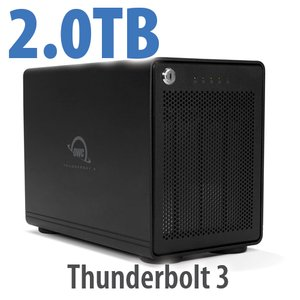 2TB OWC ThunderBay RAID 4 Four-Drive SSD External Storage Solution with Dual Thunderbolt 3 Ports