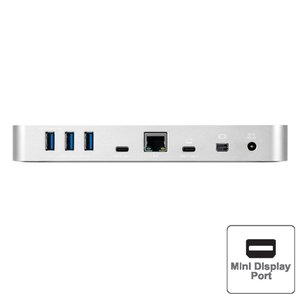 OWC USB-C 10-Port Dock with 80 Watt Power Supply - Silver