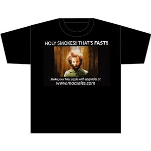 "OWC ""Holy Smokes!"" Limited Edition MacWorld 2009 T-Shirt - Black - Triple Extra Large (3XL) Size"