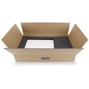 OWC Universal Laptop Carton for proper shipping of 12-inch to 15-inch laptops.