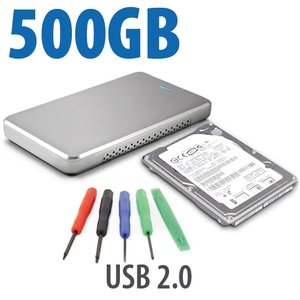 "DIY KIT: OWC Express USB 2.0 2.5"" Enclosure + 500GB HGST 5400RPM HDD"
