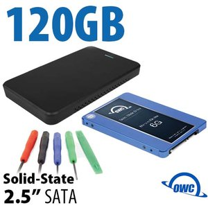 "DIY KIT: OWC Express USB 3.0/2.0 2.5"" Enclosure + 120GB OWC Mercury Electra 6G SSD"