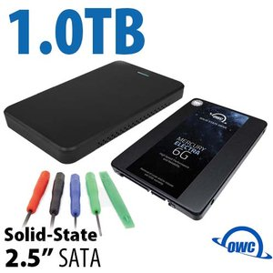 "DIY KIT: OWC Express USB 3.0/2.0 2.5"" Enclosure + 1.0TB OWC Mercury Electra 6G SSD"