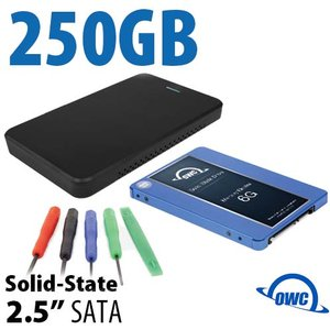 "DIY KIT: OWC Express USB 3.0/2.0 2.5"" Enclosure + 250GB OWC Mercury Electra 6G SSD"