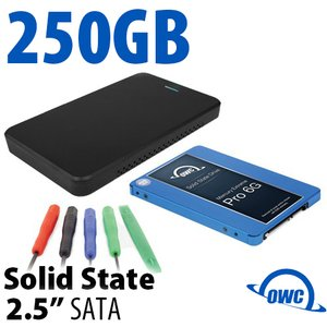 "DIY KIT: OWC Express USB 3.0/2.0 2.5"" Enclosure + 250GB Mercury Electra 6G SSD"