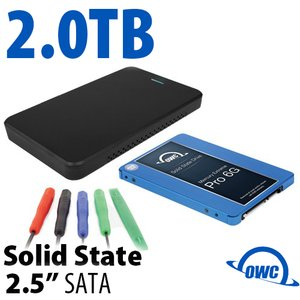 "DIY KIT: OWC Express USB 3.0/2.0 2.5"" Enclosure + 2.0TB Mercury Electra 6G SSD"