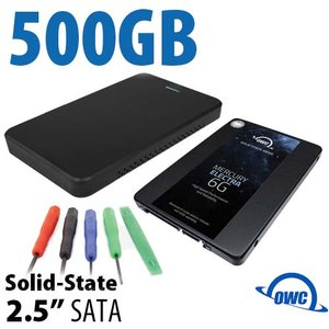 "DIY KIT: OWC Express USB 3.0/2.0 2.5"" Enclosure + 500GB OWC Mercury Electra 6G SSD"