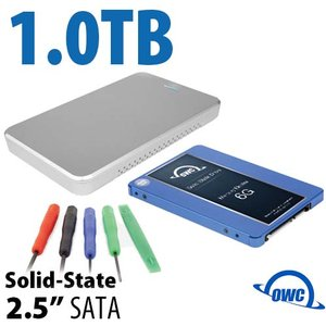"DIY KIT: OWC Express USB 3.0/2.0 2.5"" Enclosure + 1.0TB Mercury Electra 6G SSD"