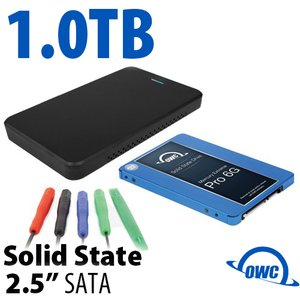 "DIY KIT: OWC Express USB 3.0/2.0 2.5"" Enclosure + 1.0TB Mercury Extreme Pro 6G SSD"