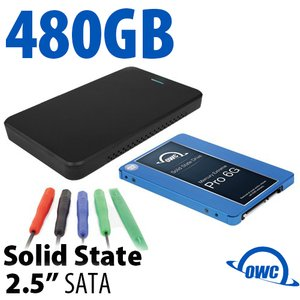 "DIY KIT: OWC Express USB 3.0/2.0 2.5"" Enclosure + 480GB Mercury Extreme Pro 6G SSD"