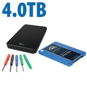 "DIY KIT: OWC Express USB 3.0/2.0 2.5"" Enclosure + 4.0TB Mercury Extreme Pro 6G SSD"