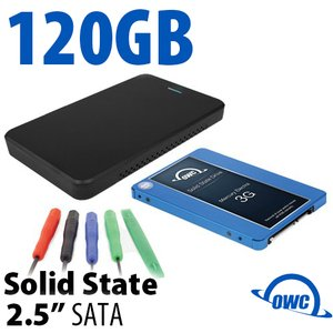 "DIY KIT: 120GB OWC Mercury Electra 3G SSD + OWC Express USB 3.0/2.0 2.5"" Enclosure + Tools"