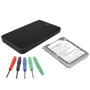 "DIY KIT: 1.0TB WD HDD/SSD Hybrid Drive 2.5"" Kit w/Express Enclosure & Transfer Kit w/tools"
