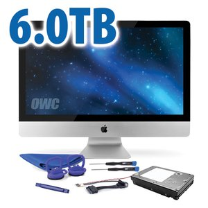 "DIY Kit: 6.0TB 7200RPM HDD Upgrade/Replacement Kit for Apple iMac (all 21.5"" and 27"" 2009 - 2010 models)"