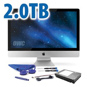 "DIY Kit: 2.0TB 7200RPM SSHD Upgrade/Replacement Kit for Apple iMac (all 21.5"" and 27"" 2009 - 2010 models)"