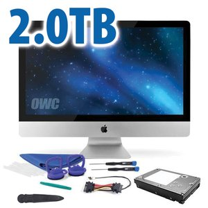 "DIY Kit: 2.0TB 7200RPM HDD Upgrade/Replacement Kit for Apple iMac (all 2012 - Mid 2019 27"" models)"