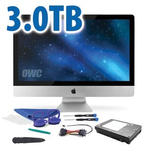 "DIY Kit: 3.0TB 7200RPM HDD Upgrade/Replacement Kit for Apple iMac (all 2012 or later 27"" models)"