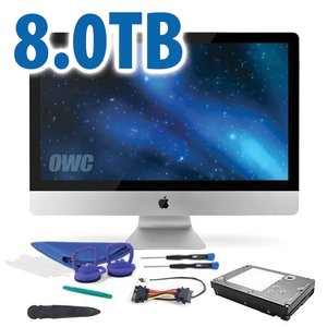 "DIY Kit: 8.0TB 7200RPM HDD Upgrade/Replacement Kit for Apple iMac (all 2012 - Mid 2019 27"" models)"
