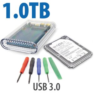 "DIY KIT: 1.0TB WD 2.5"" Hybrid SSD/HD + OWC On-The-Go USB 3.0 Enclosure + Tools/Software Bundle"