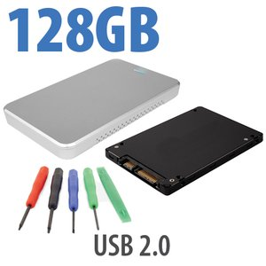 "DIY KIT: OWC Express USB 2.0 2.5"" Enclosure +128GB SanDisk SSD"