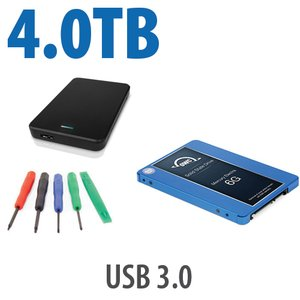 "DIY KIT: OWC Express USB 3.0 2.5"" Enclosure + 4.0TB OWC Mercury Electra 6G SSD"