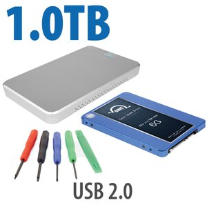 "DIY KIT: OWC Express USB 2.0 2.5"" Enclosure + 1.0TB Mercury Electra 6G SSD"