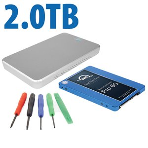 "DIY KIT: OWC Express USB 2.0 2.5"" Enclosure + 2.0TB Mercury Extreme Pro 6G SSD"
