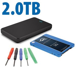 "DIY KIT: OWC Express USB 2.0 2.5"" Enclosure + 2.0TB Mercury Electra 3G SSD"