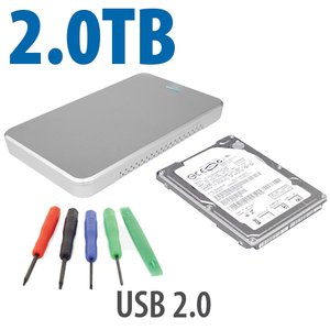 "DIY KIT: OWC Express USB 2.0 2.5"" Enclosure + 2.0TB Seagate SSHD"