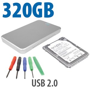 "DIY KIT: OWC Express USB 2.0 2.5"" Enclosure + 320GB Seagate 5400RPM HDD"