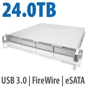 24.0TB OWC Mercury Rack Pro 4-Bay eSATA, FW 800, FW 400 & USB 3.0 1U Rack Solution