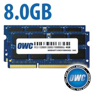 (*) 8.0GB (4GB x 2) 1867MHz DDR3 SO-DIMM PC3-14900 SO-DIMM 204 Pin CL11 Memory Upgrade