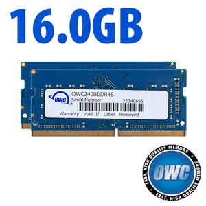 (*) 16.0GB (8GB x 2) 2400MHz DDR4 SO-DIMM PC4-19200 SO-DIMM 260 Pin CL17 Memory Upgrade