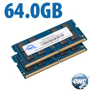 (*) 64GB (32GB x 2) OWC Brand PC21300 DDR4 ECC 2666MHz 260-pin SO-DIMM Memory Upgrade Kit