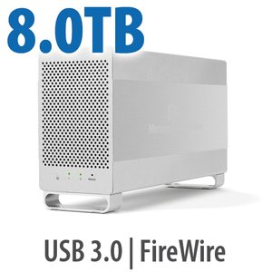 (*) 8.0TB OWC Mercury Elite Pro Dual RAID 7200RPM Storage Solution with USB 3.1 Gen 1 + FireWire 800