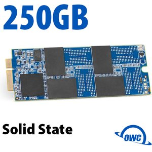 (*) 250GB OWC Aura Pro 6Gb/s SSD for MacBook Pro with Retina Display (2012 - Early 2013)