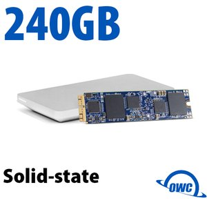 (*) 240GB OWC Aura Pro X SSD Upgrade Solution for Select 2013 and Later MacBook Air & MacBook Pro