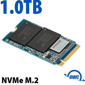 (*) 1.0TB OWC Aura P13 Pro NVMe M.2 2242 SSD. High-performance NVMe solid-state drive for M.2 enclosures and computers.