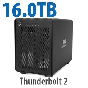 (*) 16.0TB OWC ThunderBay 4, four-drive HDD with dual Thunderbolt 2 ports, RAID 5 Solution