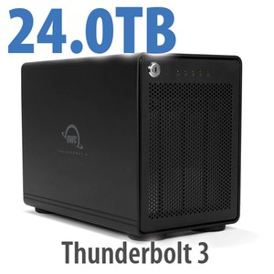 (*) 24TB OWC ThunderBay RAID 5 4-Drive HDD External Storage Solution with Dual Thunderbolt 3 Ports